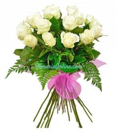 19 Trandafiri albi