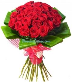 Buchet 27 trandafiri rosii
