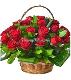 Cos 29 trandafiri